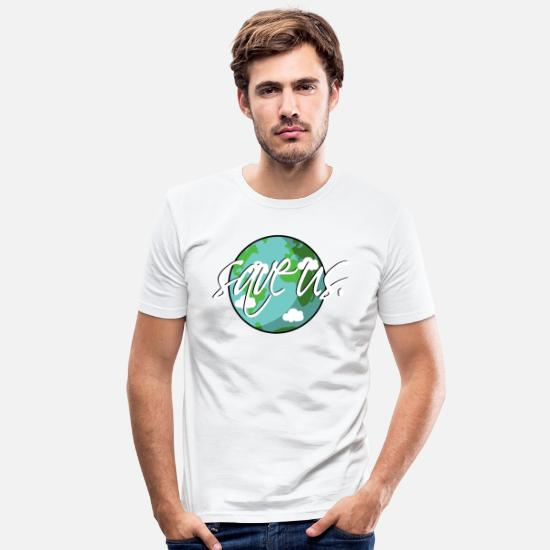 Fridays For Future T-Shirts - save our planet - Männer Slim Fit T-Shirt Weiß