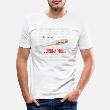 Corona Corona Virus - Männer Slim Fit T-Shirt