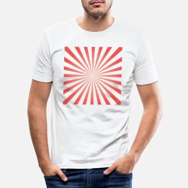 3d Optisk illusion mønster former geometri gave - Slim fit T-shirt mænd