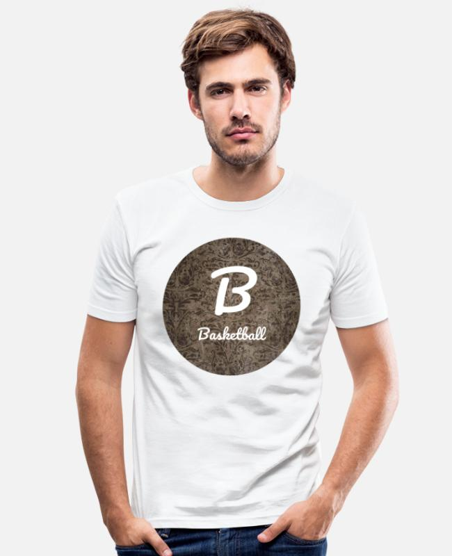 Design T-Shirts - basketball - Men's Slim Fit T-Shirt white