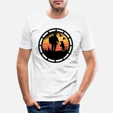 Stag Never mess with a hunter. - Men's Slim Fit T-Shirt