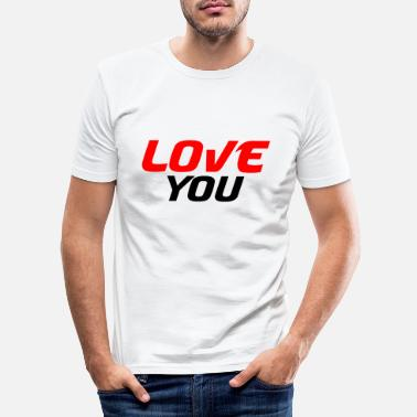 Wedding Day I love you - Men's Slim Fit T-Shirt