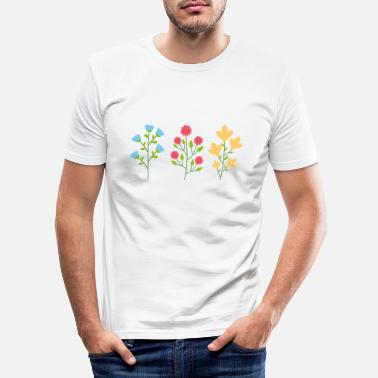 Forest Environmental protection gift environment flowers - Men's Slim Fit T-Shirt