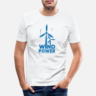 Demo Wind power environmental protection gift environment - Men's Slim Fit T-Shirt