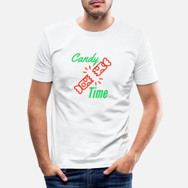 Candy time at Christmas - Men's Slim Fit T-Shirt