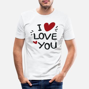 Young Wild And Free I Love You - Männer Slim Fit T-Shirt