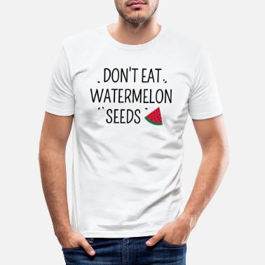 Seed Don't eat watermelon seeds grossesse - T-shirt moulant Homme
