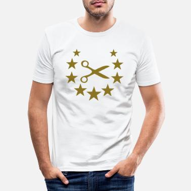 Scissors hairdresser scissors star - Miesten slim fit t-paita