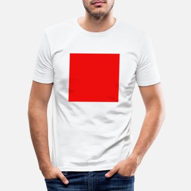Square red square square geometry friend gift - Men's Slim Fit T-Shirt