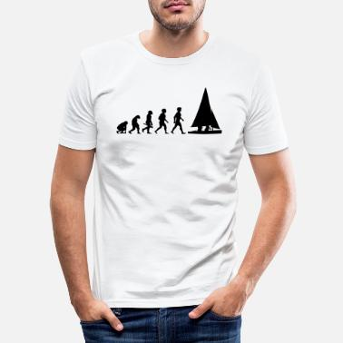 Segelboot Evolution Segeln Segelboot Segelschiff - Männer Slim Fit T-Shirt