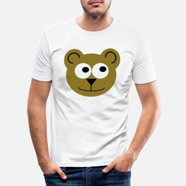 Sumu Lee Bear (felice) - Maglietta slim fit uomo