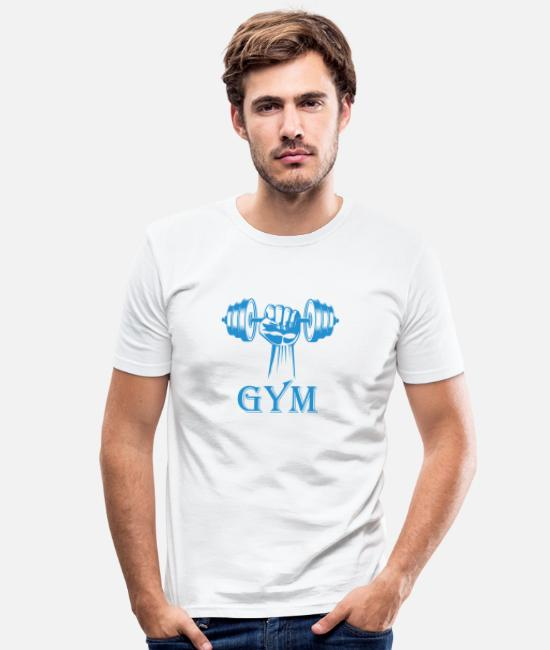 Studio T-Shirts - Fitness Studio - Men's Slim Fit T-Shirt white