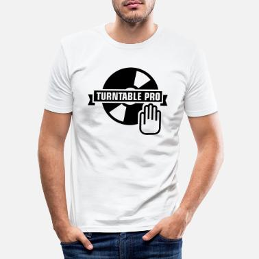 Vinyl turntable_pro_1_f1 - Men's Slim Fit T-Shirt
