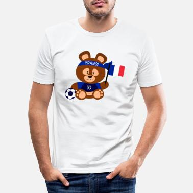 France Teddy Fan - T-shirt moulant Homme