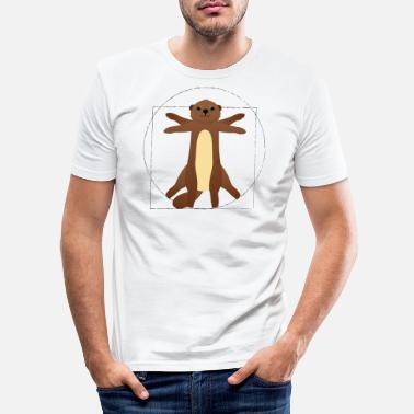 Body Otter da Vinci - Men's Slim Fit T-Shirt