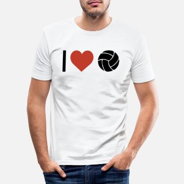 Sport Jeg hjerte volleyball sport - Slim fit T-skjorte for menn