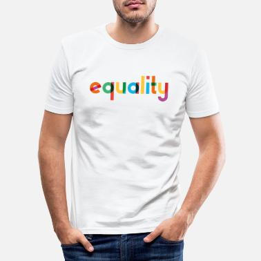Equality - Rainbow Typography - Men's Slim Fit T-Shirt