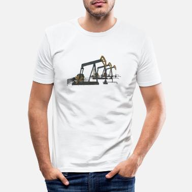 Oil Oil pumps, oil production, oil production, oil - Men's Slim Fit T-Shirt