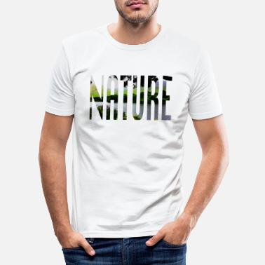 Part Of Speech Part of speech Design - Nature - Men's Slim Fit T-Shirt