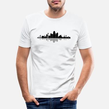 Dallas DALLAS Texas USA skyline - Slim fit T-skjorte for menn