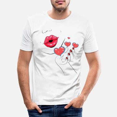 Kiss Kiss - Kiss - Kiss - Lèvres - Lèvres - T-shirt moulant Homme