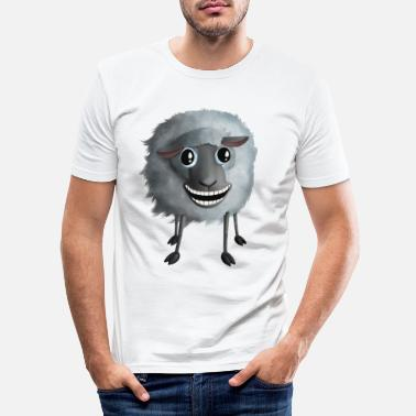 Shropshire Sweet Sheep - Crazy Smiling - Mannen slim fit T-shirt