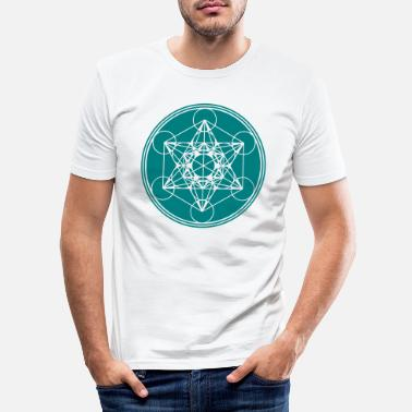 Cubo Metatrons Cube - Vector - Flower of Life / - Maglietta slim fit uomo