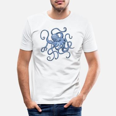 Summer Octopus - Men's Slim Fit T-Shirt