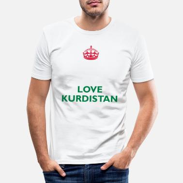 I Love Keep Calm&Love Kurdistan - Männer Slim Fit T-Shirt