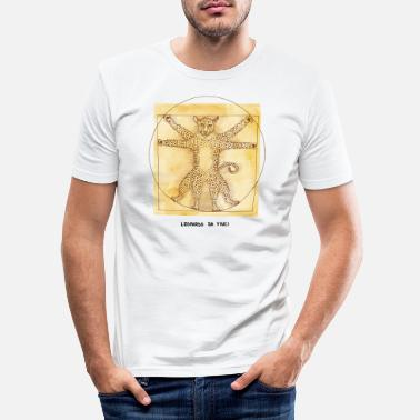 Leopard da Vinci - Men's Slim Fit T-Shirt