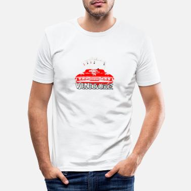 Old School Old School Vintage Muscle Car - Männer Slim Fit T-Shirt