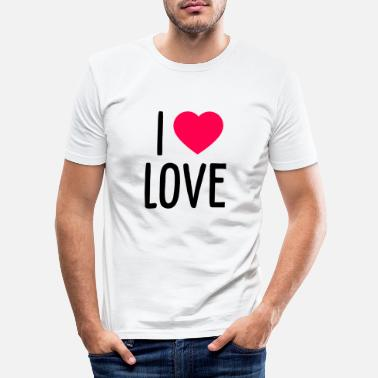 I Love I Love Love - Männer Slim Fit T-Shirt