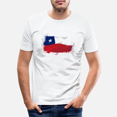 Chile Chile Flag - Männer Slim Fit T-Shirt