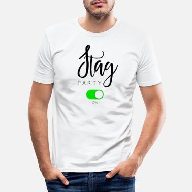 Stag STAG PARTY - Men's Slim Fit T-Shirt
