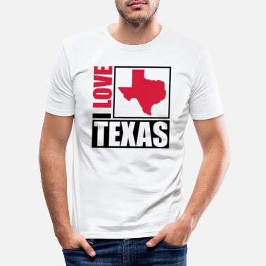 Vacation i_love_texas_py2 - Men's Slim Fit T-Shirt