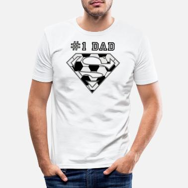 Superdad Superman Super Dad Soccer - Männer Slim Fit T-Shirt