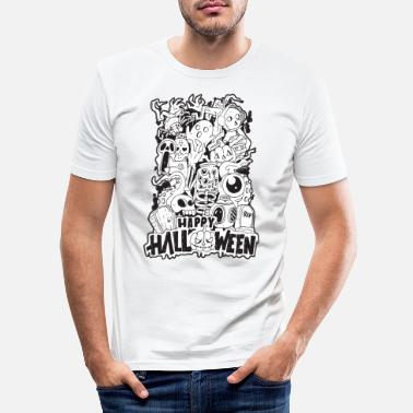 Cool Happy Halloween | Cool Illustration Design - Maglietta slim fit uomo