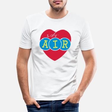 Info@spreadshirt.net lov air_vec_3 de - Männer Slim Fit T-Shirt