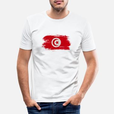 Djerba Tunisia Vintage Flag / Gift Djerba Tunis - Men's Slim Fit T-Shirt