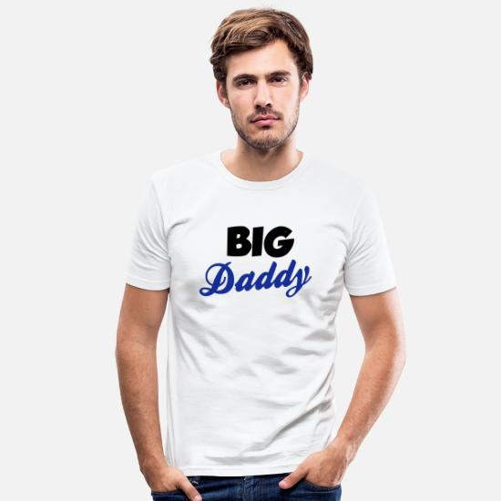 Father's Day T-Shirts - Daddy - Men's Slim Fit T-Shirt white