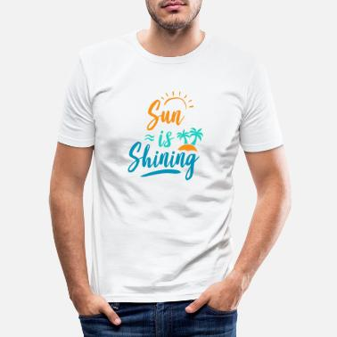 Summer, sun, beach, vacation, gift - Men's Slim Fit T-Shirt