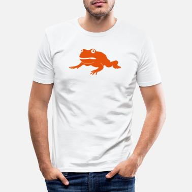 Illustrasjon grumpy frog - Slim fit T-skjorte for menn