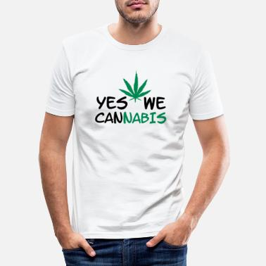Yes We Cannabis YES WE Cannabis! - Slim fit T-skjorte for menn