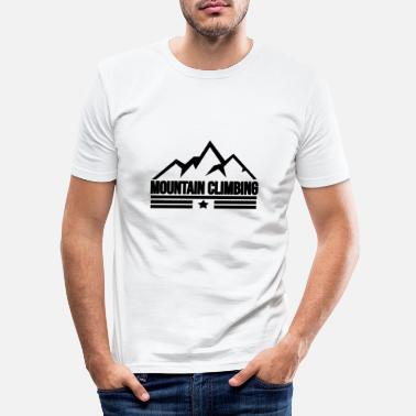 Mountain Climbing Mountain climbing Mountain climbing - Men's Slim Fit T-Shirt