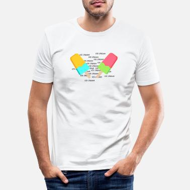 Ice ICE, ICE CREAM - Slim fit T-shirt mænd