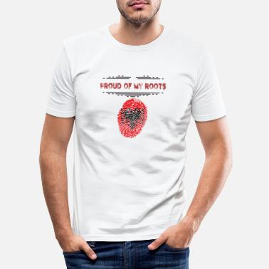 Proud Albania - Albania - Proud of my roots - Men's Slim Fit T-Shirt