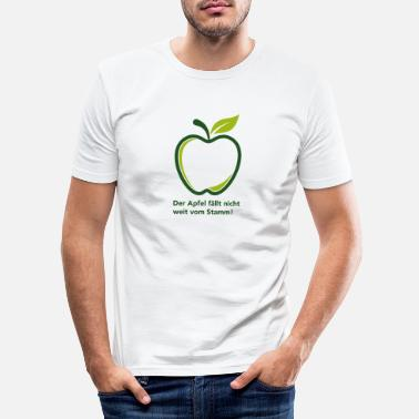 Far The apple does not fall far from the trunk! - Men's Slim Fit T-Shirt