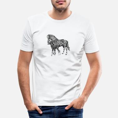Mare Mare with a foal - Men's Slim Fit T-Shirt