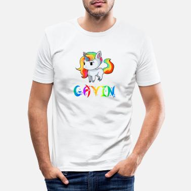 Gavin Unicorn Gavin - Men's Slim Fit T-Shirt