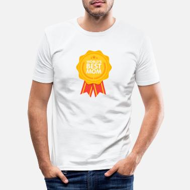 Klasse World´s Best Mom - Männer Slim Fit T-Shirt